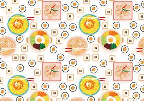 Korean Food Pattern Vector