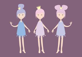 Vector Cute Fairies