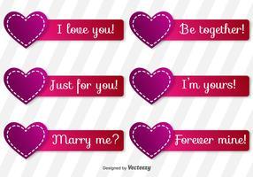Love Vectors Labels