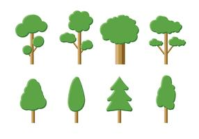 Tree Icon Vector Pack