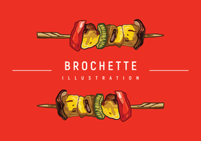 Brochette Illustration