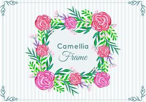 Beautiful Free Vector  Camellia Frame