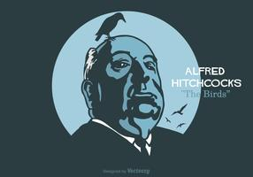 Free Alfred Hitchcock Vector Illustration