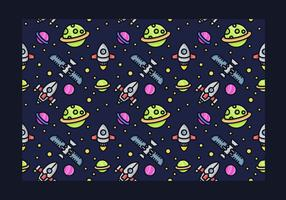 Seamless Starship Vector Pattern