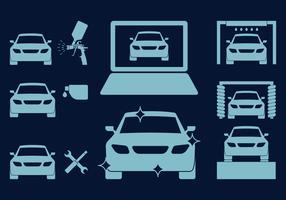 Car Body Repair Icons