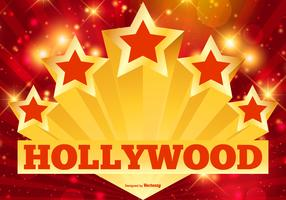 Hollywood Stars and Lights Illustration