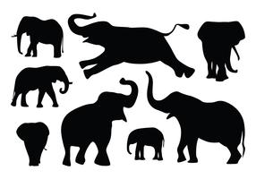 Elephant Silhouette Vectors
