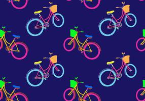 Free Bicicleta Seamless Pattern Vector Illustration
