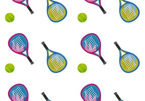 Free Padel Seamless Pattern Vector Illustration