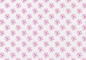 Free Vector Pink Spring Watercolor Flowers Pattern