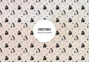 Free Vector Ink Christmas Pattern With Hats And Hearts