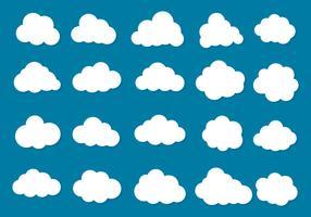 Colección de vectores libres nubes Icono