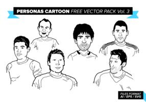 Personas Cartoon Free Vector Pack Vol. 3