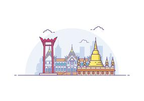 Free Bangkok Cityscape Illustration