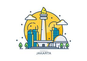 Monas Linear Vector Illustration