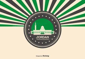 Rtero Style Jordan Illustration