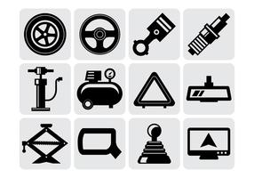 Free Car Parts Icons Vector