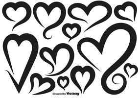 Vector Hearts Icons Set