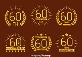 Nice 60th Annivesray Emblem Vector