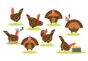 Free Cartoon Turkey Vector