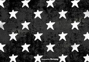 Vector Grunge White Stars Pattern