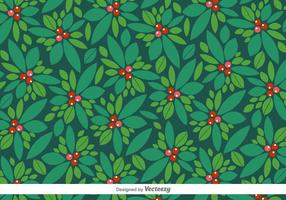 Vector Christmas Pattern Of Holly Berry
