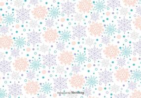 Snowflakes Doodles Vector Pattern