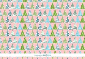 Geometric Christmas Trees Vector Pattern