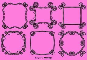 Vector Ornamental Love Frames