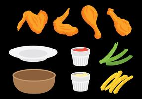 Free Buffalo Wings Icons Vector