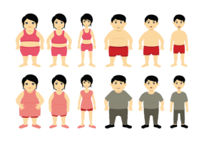 Cartoon Slimming Vector