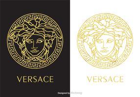 Free Golden Versace Logo Vector