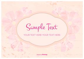 Floral Grunge Text Template