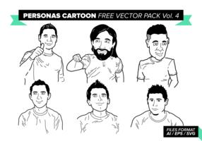 Personas Cartoon Free Vector Pack Vol. 4