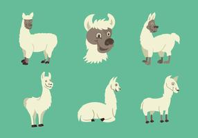 Funny Llama character vector illustration