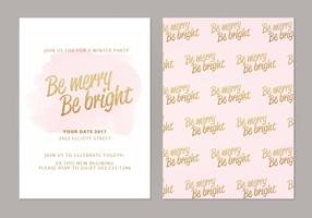 Be Merry Be Bright Vector Winter Cards