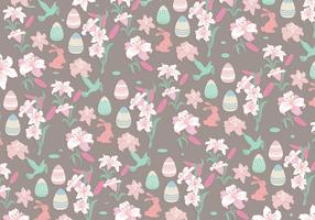 Easter Lily Pattern Vector