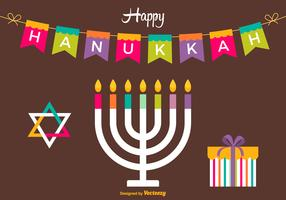 Free Happy Hanukkah Vector Card
