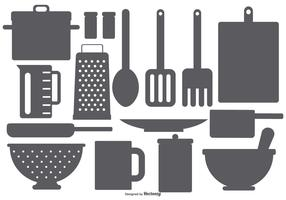 Kitchen Element Vector Shapes