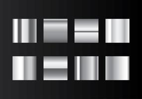 Grey Gradient Steel Swatches Vector