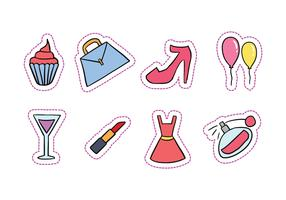 Hen Party Hand-Drawn Icons