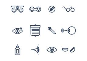 Set of Eye Icons