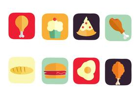 Free American Food Icons Vector