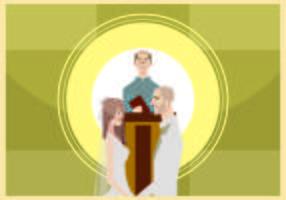 Wedding Ceremony Illustration