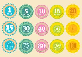 Anniversary Badge Vectors