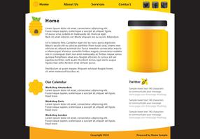 Honey Food Web Page Template Vector