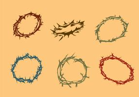 Various Crown of Thorns Vector
