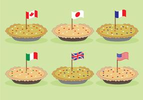 Country Apple Pie Vectors
