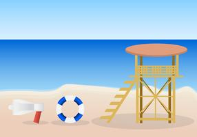 Life guard stand vector