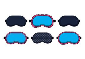 Blue Sleep Mask Vectors